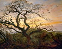 Tree with Ravens and Prehistoric Tumulus on the Baltic Coast Fine-Art Print