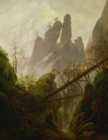 Mountain Landscape (Felsenlandschaft im Elbsandsteingebirge), c 1822-1823 Fine-Art Print
