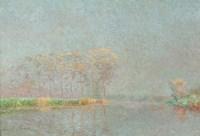 Fog on the River Lys Canvas Fine-Art Print
