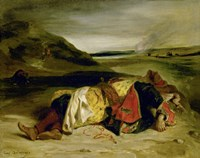 The Death of Hassan, 1825 Fine-Art Print