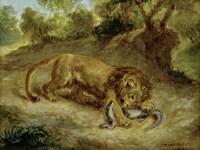 Lion and Cayman, 1855 Fine-Art Print