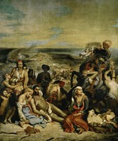 The Massacre of Chios Greek Families Waiting for Death or Slavery, 1824 Fine-Art Print