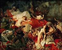 The Death of Sardanapalus, 1827 Fine-Art Print