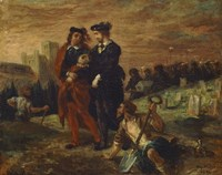 Hamlet and Horatio in the Cemetery Fine-Art Print