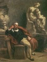 Michelangelo in His Studio, c 1850 Fine-Art Print