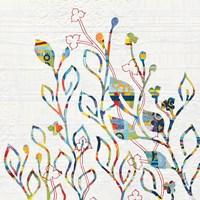 Rainbow Vines with Flowers Fine-Art Print