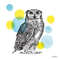 Sketchbook Lodge Owl Fine-Art Print