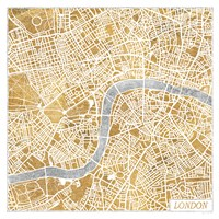 Gilded London Map Fine-Art Print