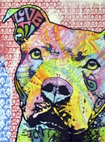 Thoughtful Pit Bull This Years Love 2013 Part 1 Fine-Art Print