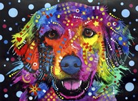 Golden Retriever (on black) Fine-Art Print