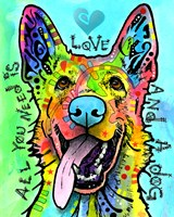Love And A Dog Fine-Art Print