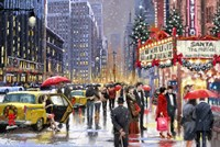 New York Theater Xmas Fine-Art Print