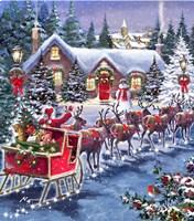 Santa And Sleigh Fine-Art Print