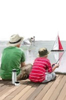 Dad Son Boat Fine-Art Print