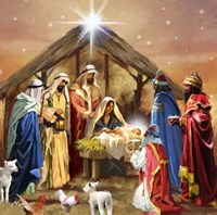 Nativity Collage Fine-Art Print