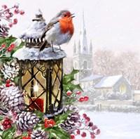Robin On Lantern Fine-Art Print