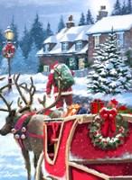 Santa Delivering Fine-Art Print