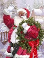 Santa waving Fine-Art Print