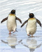 Dancing Penquins Fine-Art Print