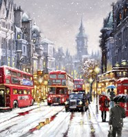Whitehall In Snow Fine-Art Print