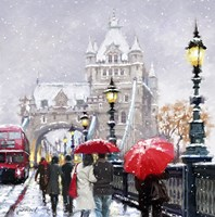 Tower Bridge In Snow Fine-Art Print