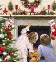 Girl And Boy Looking Up Chimney Fine-Art Print