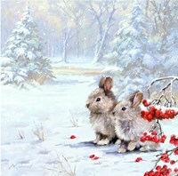 Woodland Rabbits Fine-Art Print