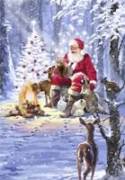 Santa's Campfire Fine-Art Print