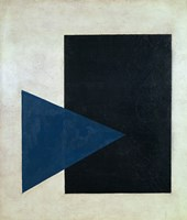 Black Square, Blue Triangle, 1915 Fine-Art Print