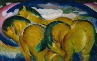 The Small Yellow Horses, 1912 Fine-Art Print
