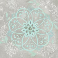 Jacobean Damask Blue/Gray I Fine-Art Print