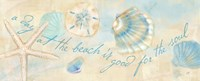Watercolor Shell Sentiment Panel II Fine-Art Print