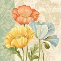 Pastel Poppies Multi I Framed Print