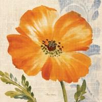 Watercolor Poppies III (Orange) Fine-Art Print