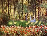 Family in Garden, Argenteuil Fine-Art Print