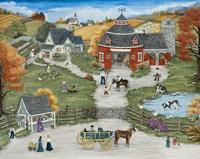 Grandpa's Barn Yard - Grandma's Garden Fine-Art Print