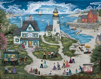 Party at the Lighthouse Inn Fine-Art Print