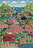 Cherry Bloom Hills Fine-Art Print