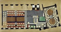 Plan For A Bus Station: Design For The First Floor, 1927 Fine-Art Print