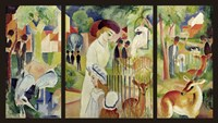 Grosser Zoologischer Garten (Triptychon) Fine-Art Print