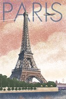 Paris Pink Eiffel Tower Fine-Art Print