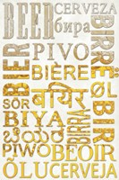 Beer In Different Languages Fine-Art Print