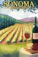 Sonoma Wine Country Ad Fine-Art Print