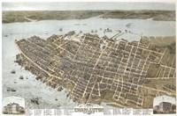 Charleston, South Carolina Map Fine-Art Print