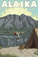 Alaska Plane Lake Campsite Fine-Art Print