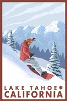 Lake Tahoe Moutain Snowboard Fine-Art Print
