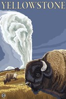 Yellowstone Rams In Field Fine-Art Print
