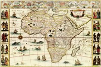 Decorative Africa Map Fine-Art Print