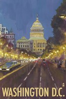 Washington DC Capitol Building Ad Fine-Art Print