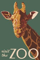 Visite The Zoo Giraffe Fine-Art Print